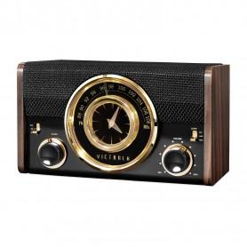 Radio Reloj Vintage Victrola VC-525