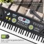 Teclado y micrófono de piano de 61 teclas Pyle