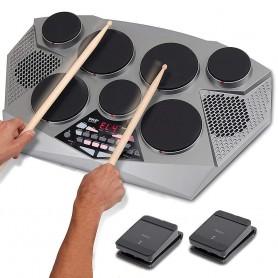 Batería digital de sobremesa de 7 tambores Pyle