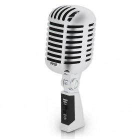 Microfono Retro Pyle Color Plata